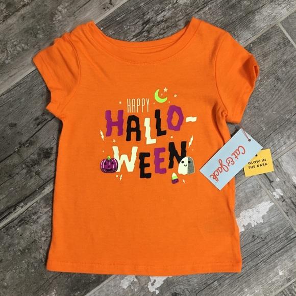 nwt girls glow in dark halloween shirt 12 months